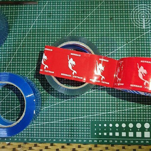băng dínbăng dính in logo In nền màu đỏh In nền màu đỏ
