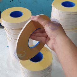 băng dính 2 mặt vàng 5mm 100 mét