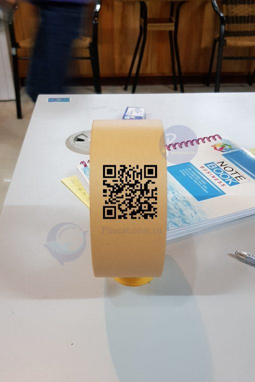 băng dính giấy in QRcode