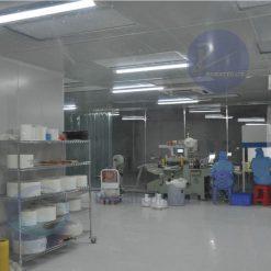 nhà xưởng phòng sạch băng dính y tế